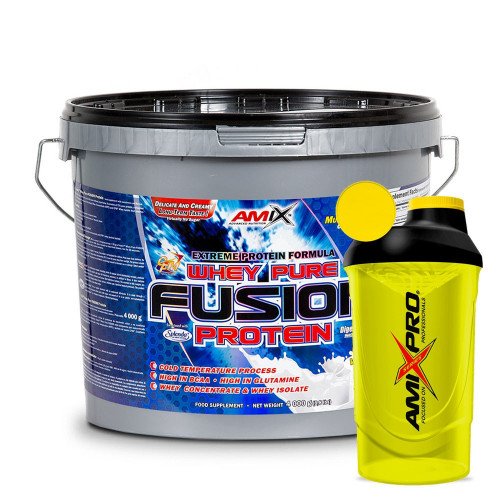 Amix Nutrition Whey Pure Fusion Protein 4000 g + šejkr AmixPro ZDARMA