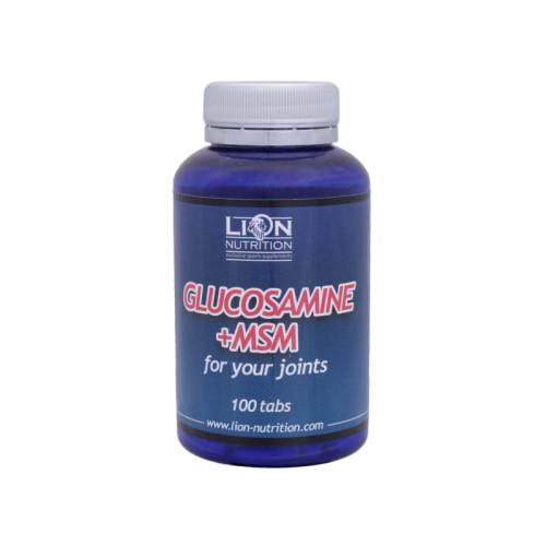Lion Nutrition Glucosamine +  MSM 100 kapslí