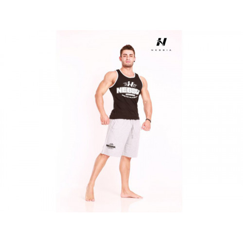 Nebbia Fitness Šortky Hard 943 světle šedá