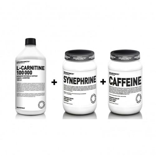 SizeAndSymmetry L-Carnitine 100 000 + Synephrine 100 tablet + Caffeine Fat Burning 60 kapslí ZDARMA