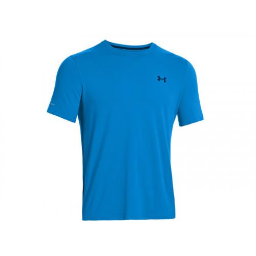 Under Armour Men's Charged Cotton® Short Sleeve Triko Modrá XL